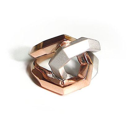 Twisted Two Tone Love Knot Ring