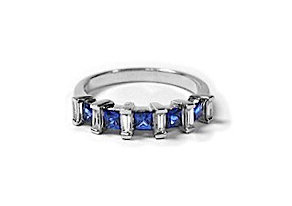 Sapphire Bagguette