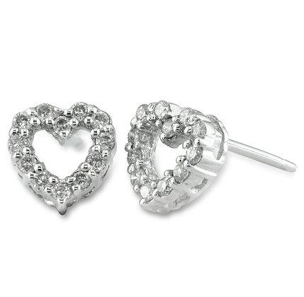 Individually Set Diamond Heart Earrings