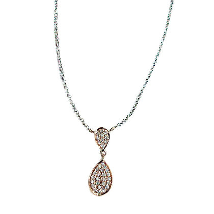 Pear Pave Style Pendant