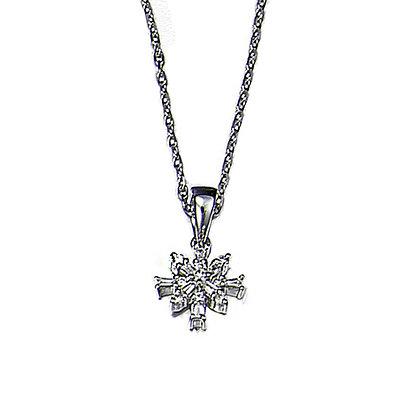 14 KT Snowflake Pendant