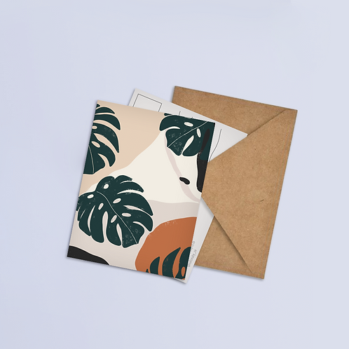 Monstera Postcard