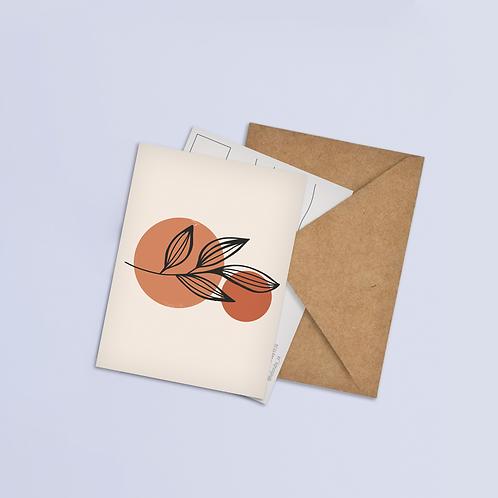 Line Floral Postcard