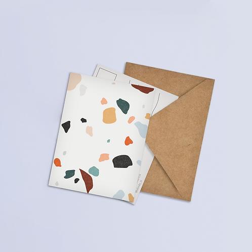 Abstract Confetti Postcard