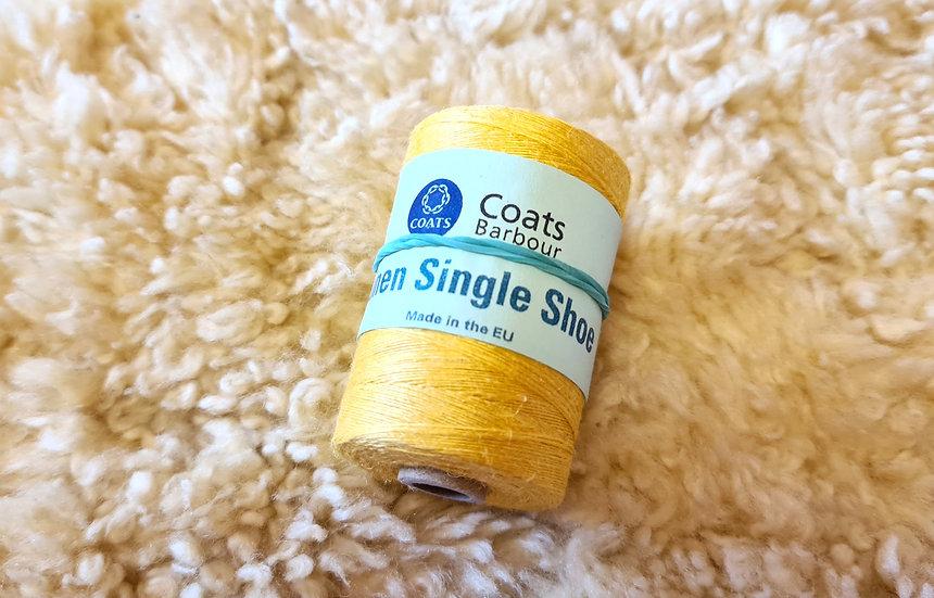 Gelber ungewachster Faden von Coats / yellow hemp