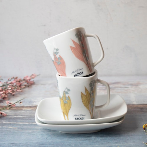 """2 coffee cups """"Lily of the valley"""""""
