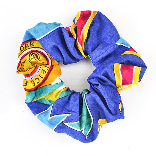 """Horace Blue"" legacapelli/scrunchie"