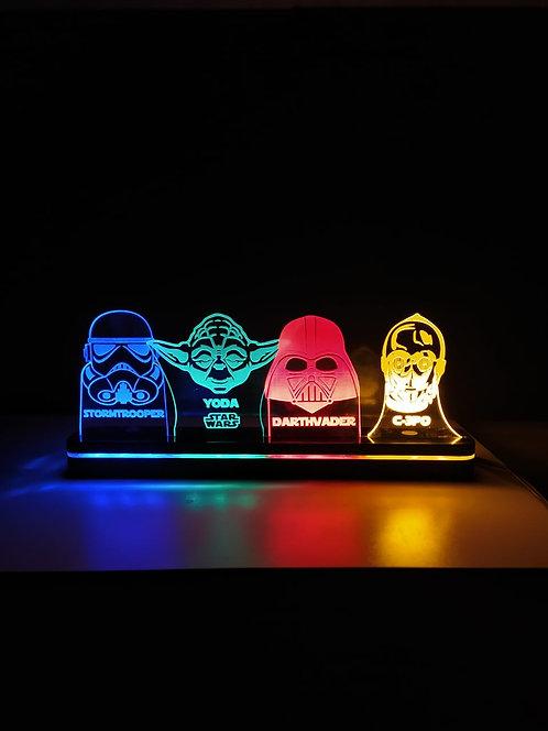 Luminária Star Wars Personagens