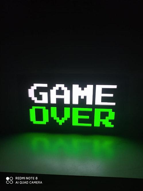 Luminária de parede GAME OVER RGB