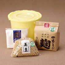 自然栽培味噌づくりセット (プラスチック桶付き)(クール便送料込み)