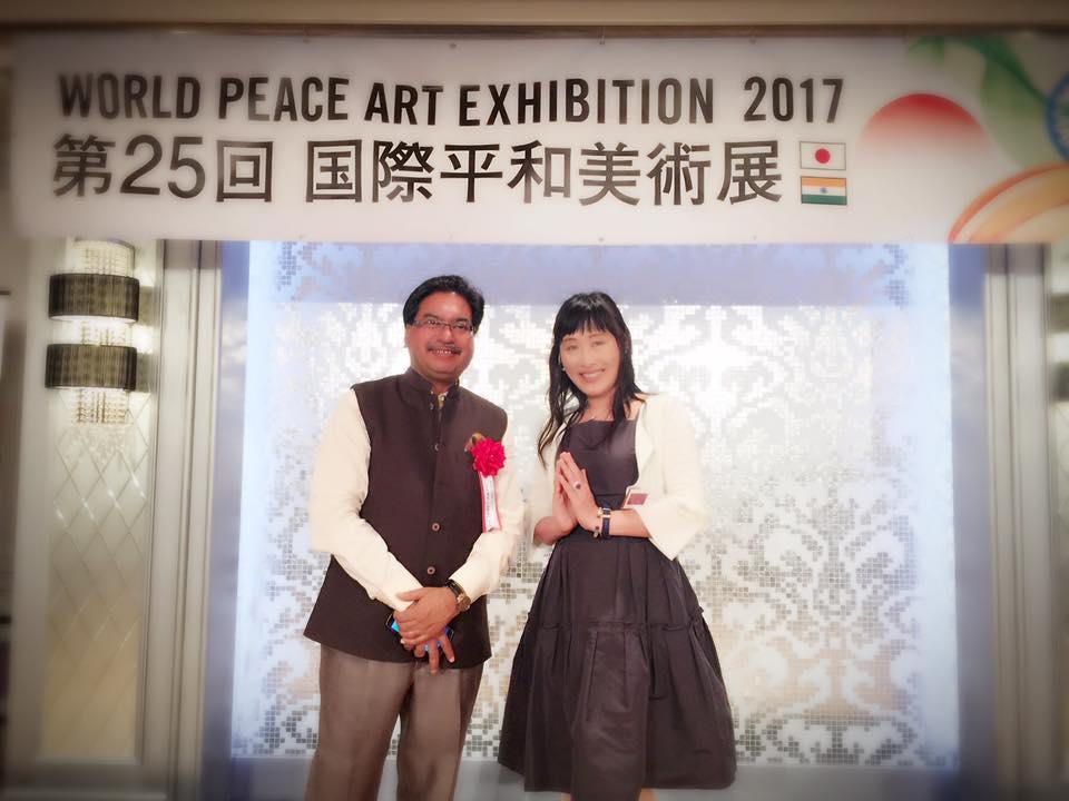 国際平和美術展レセプションパーティーにて
