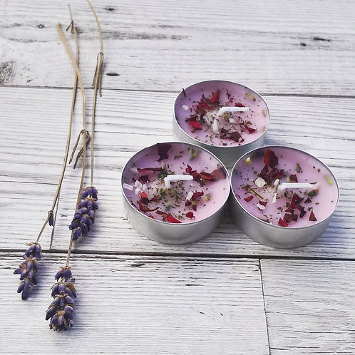 New Lover Tea Light Candles - attract affection.