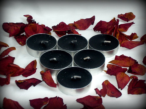 Black Tea Light Candles - cleanse or curse.