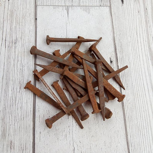 Small Rusty Iron Nails - vintage 1950's.