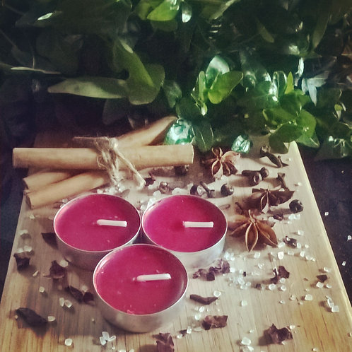 Red Tea Light Candles - passion & love.