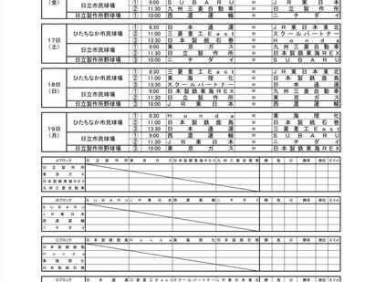 第43回JABA日立市長杯選抜野球大会組合せ