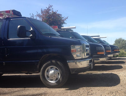 Five Parr Mechanical Inc service vans