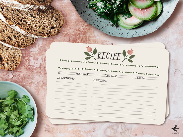 Printable Recipe Cards | Set of 3 Designs
