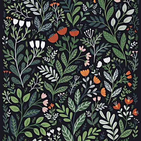 Imaginary wilderness - Pattern Design fo Caspar Design
