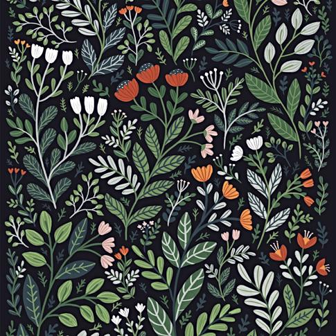 Imaginary wilderness - Pattern Design fo Caspar Design