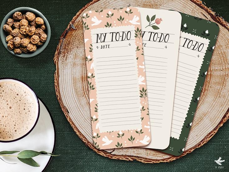 Printable To-Do Cards | Set of 3 Designs