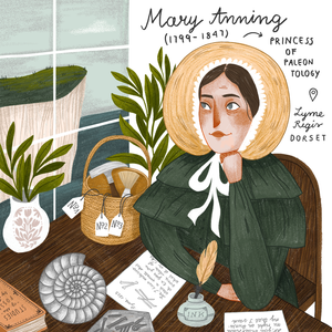Mary Anning portrait illustration by iz.ptica