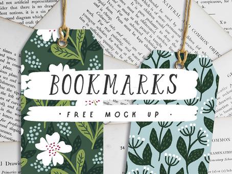 Free Bookmarks mockup