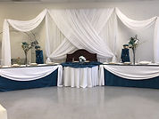 Head Table Setp with CrissCros Backdro