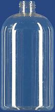 16 oz. Clear Boston Round Bottle