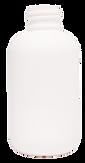 4 oz. White Boston Round Bottle