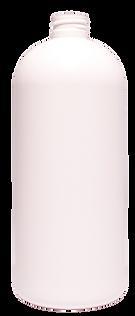 32 oz. White Boston Round Bottle