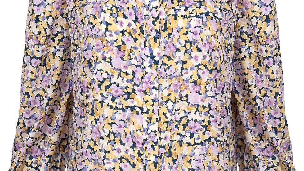 blouse Manou lilac flower print