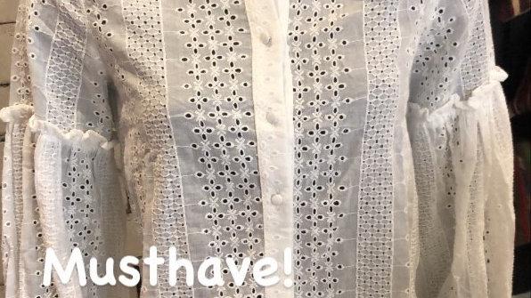 Lace blouse wit