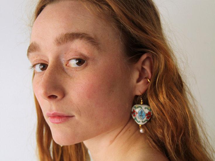 'Peace' pendant earrings