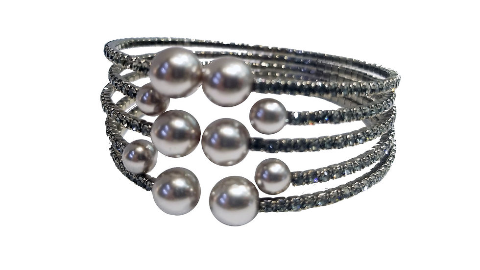 Wired crystal bracelet