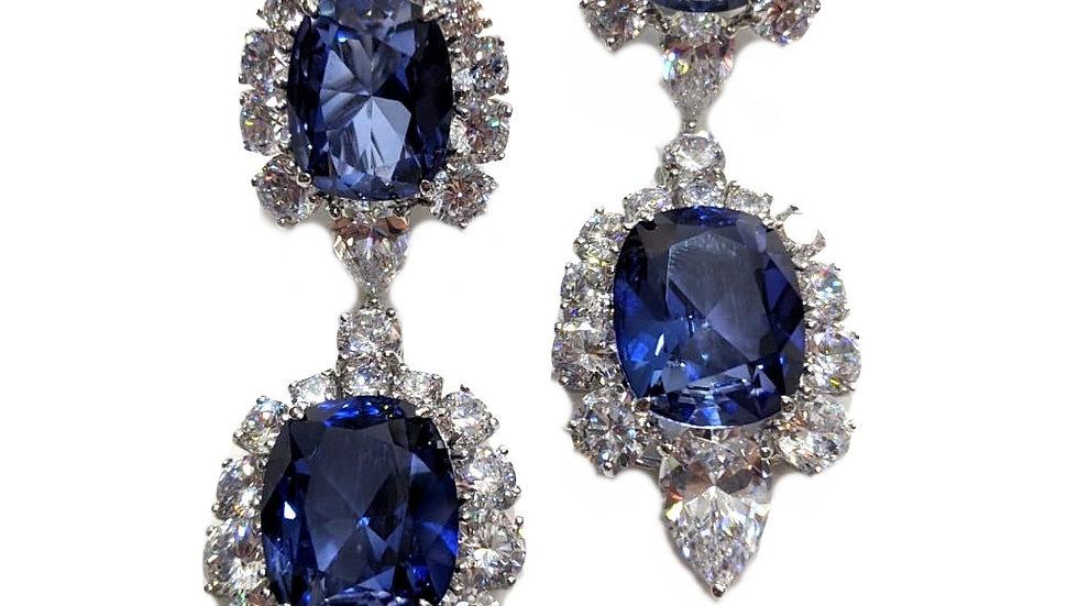 Luxurios double drop earrings