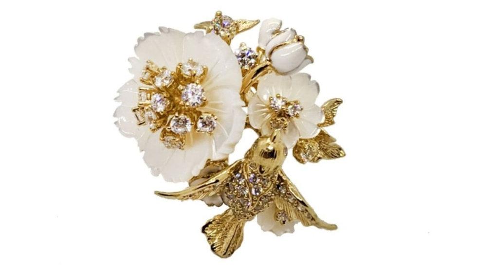 "Bellezza Ring ""Bird and Flower"""