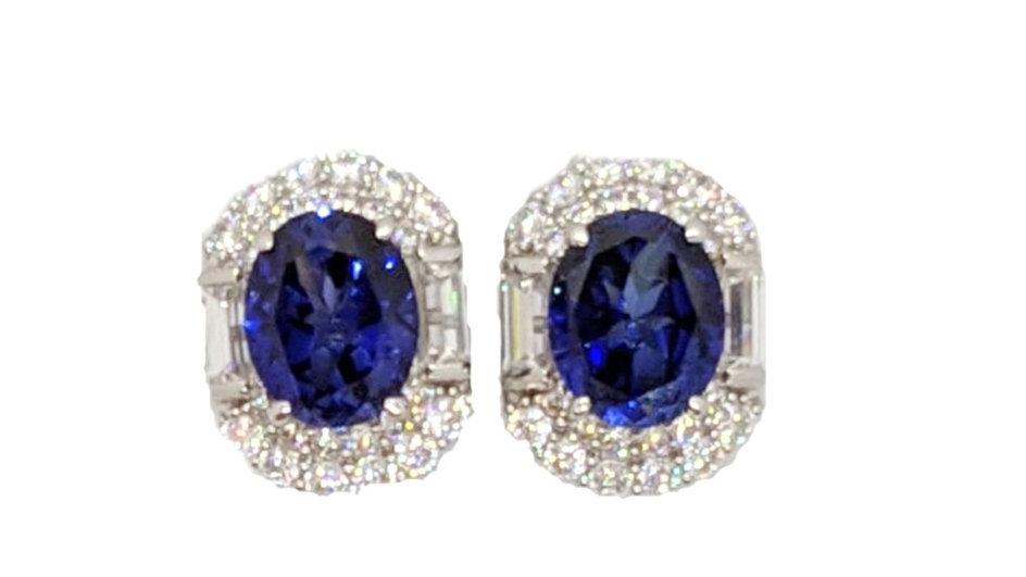 7A Sapphire inspired earrings