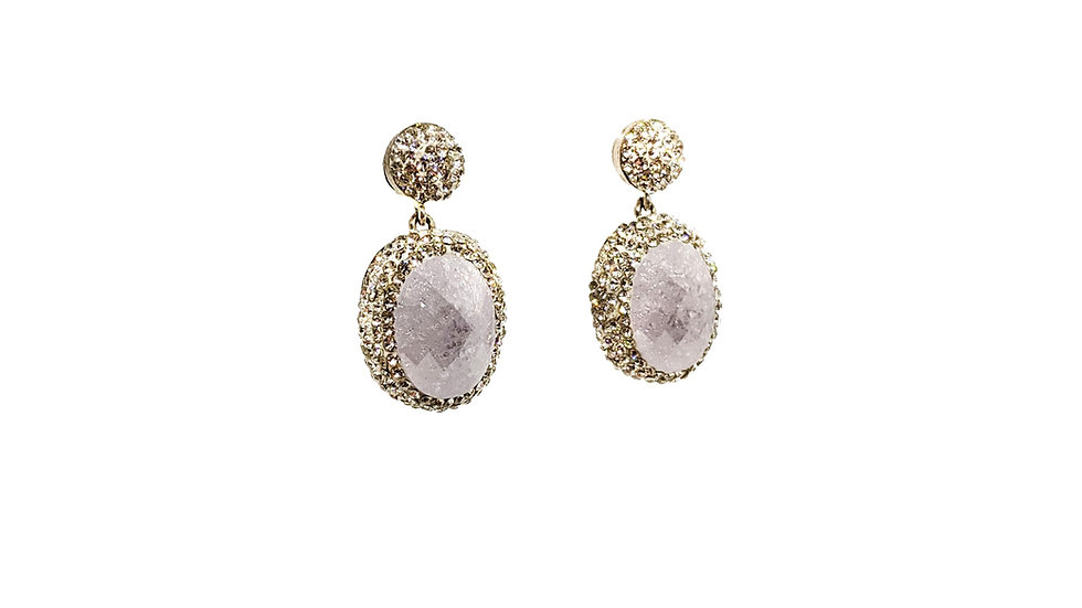 Crystal Quartz Drop earrings