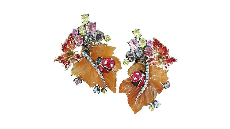 Grape Leaf Earrings BELLEZZA LINE