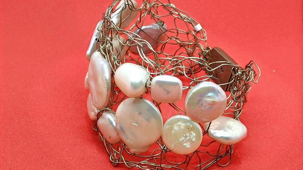 Silver Wired Bracelet