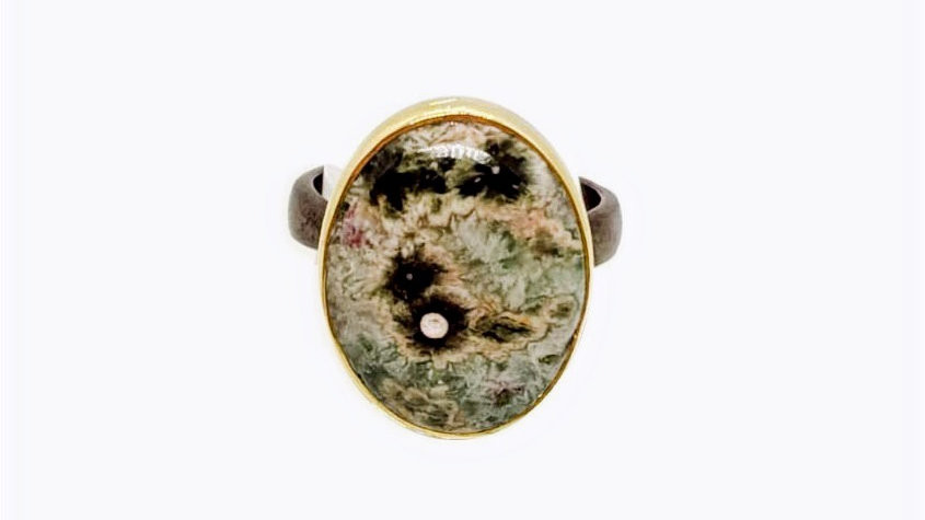 Handmade Oval Agate ring