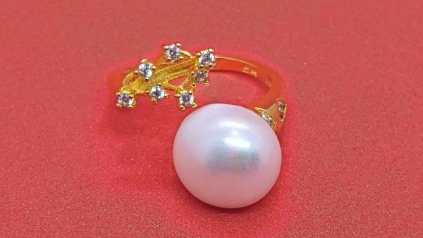 Adjustable Freshwater Pearl ring