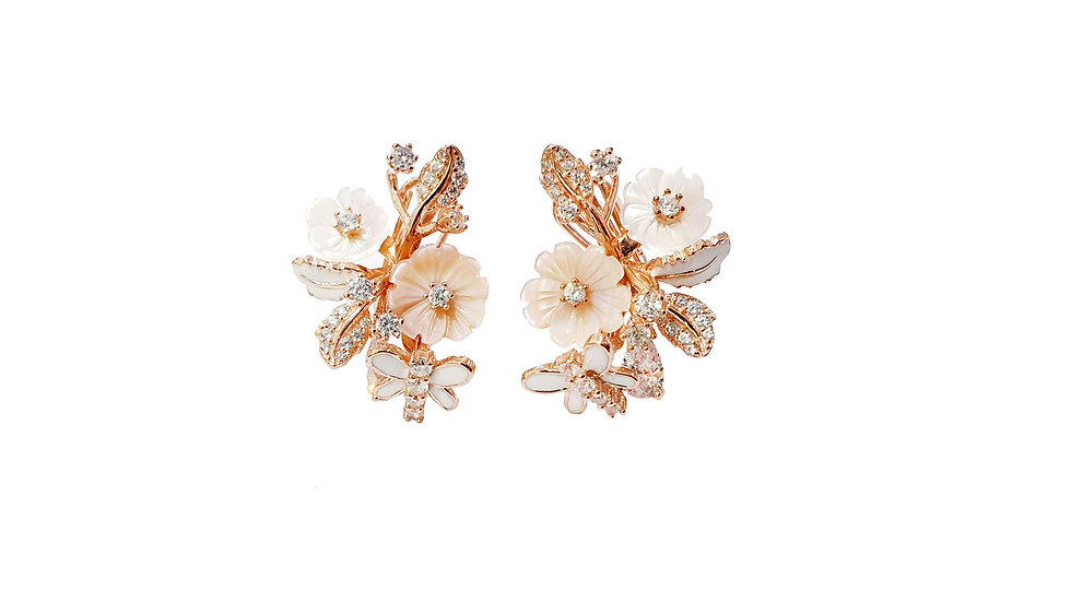 Belleza Italian flower earrings