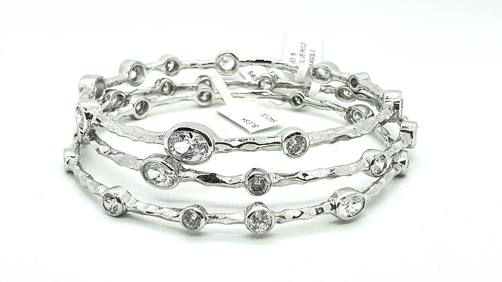 Stackable bracelets with crystals
