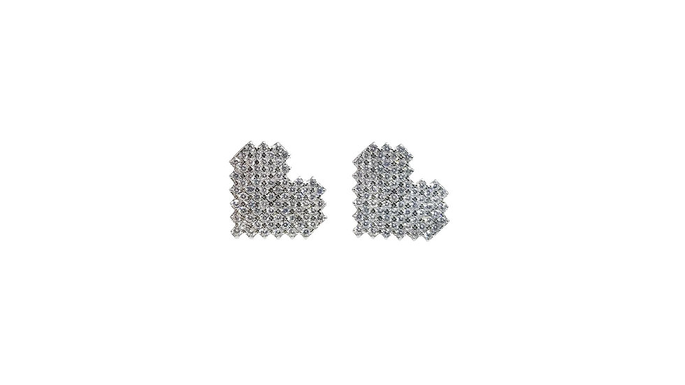 Pixel Heart studs