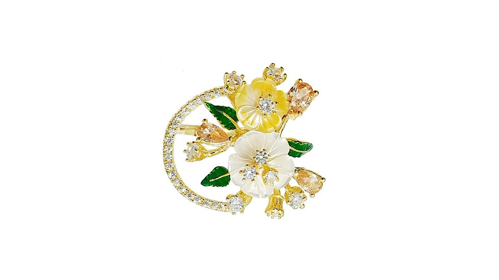 Bellezza Italian Flower ring