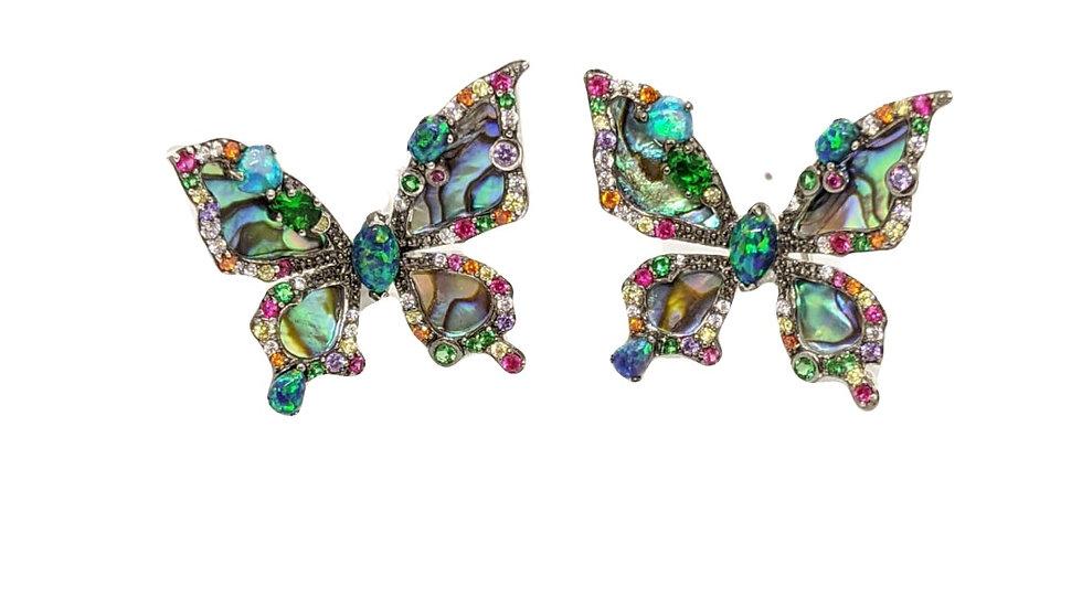 Abalony butterfly earrings