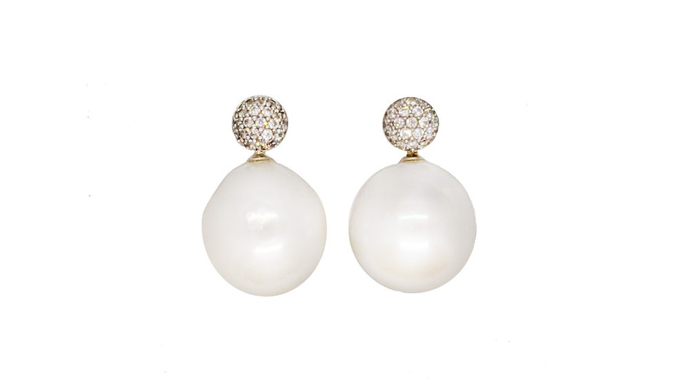 South Sea Baroque Pearl earrings