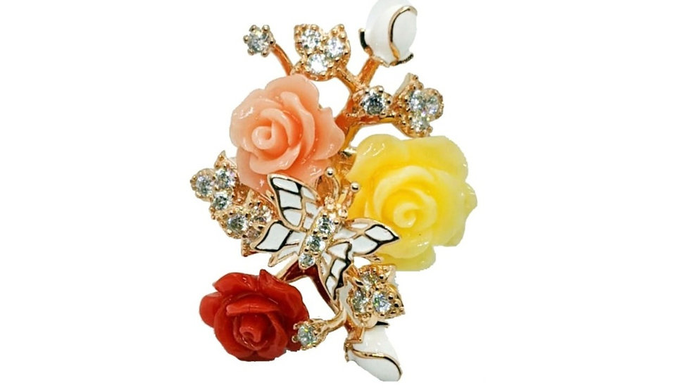 Bellezza Coral Flower Ring